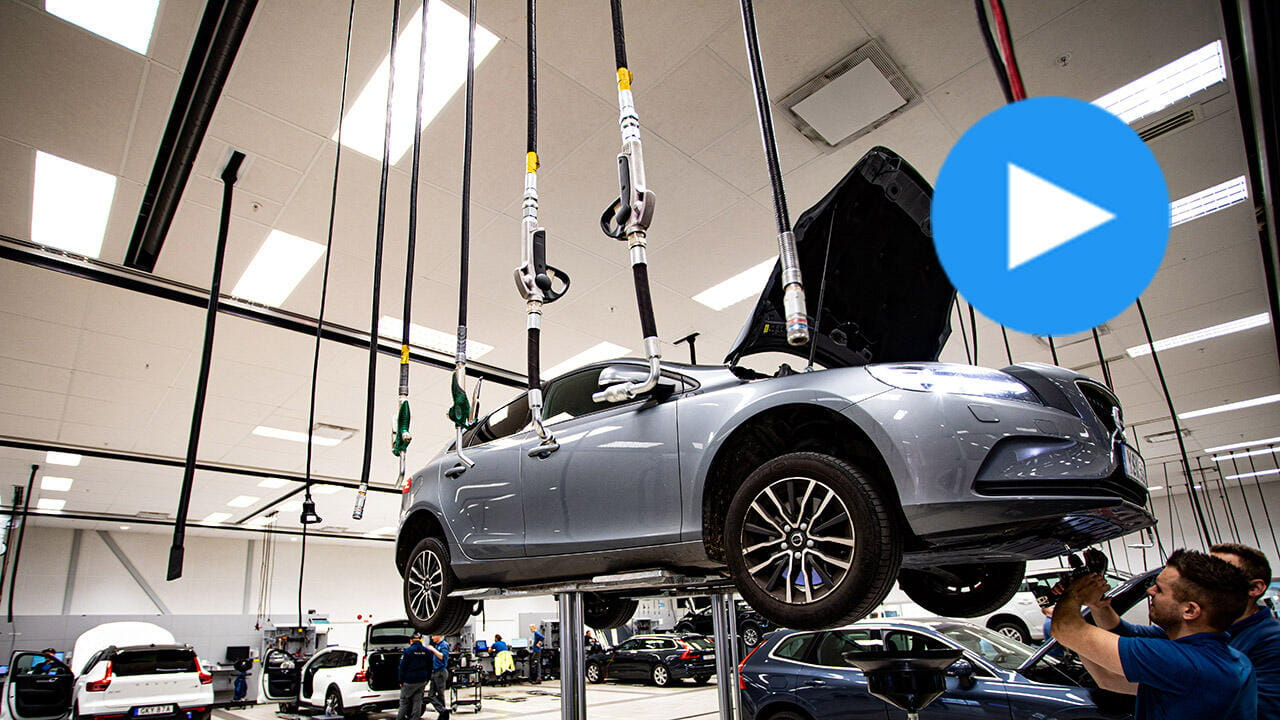 Volvo State-of-the-art vehicle repair shop